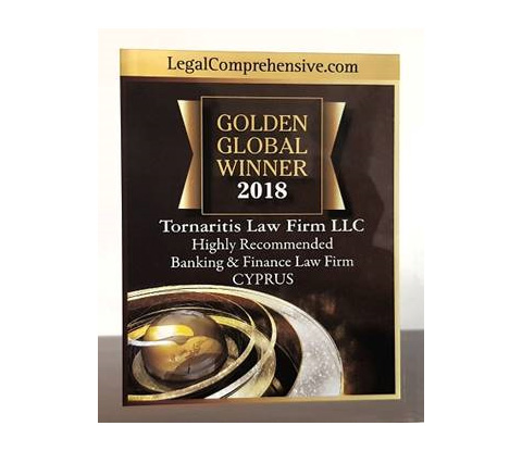 Golden Global Winner 2018 and Highly recommended Banking & Finance Law Firm in Cyprus