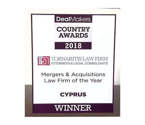 Merger & Acquisitions Law Firm of the Year in Cyprus 2018