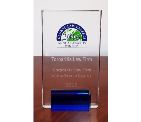 Corporate Law Firm of the Year in Cyprus 2016